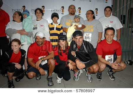 Jennifer Morrison and Amaury Nolasco with Eva Longoria and Christian De La Fuente at the Padres Stand For Hope 5k Charity Run-Walk. Los Angeles Memorial Coliseum, Los Angeles, CA. 03-21-09