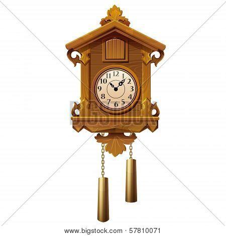 Vintage Wooden Cuckoo Clock