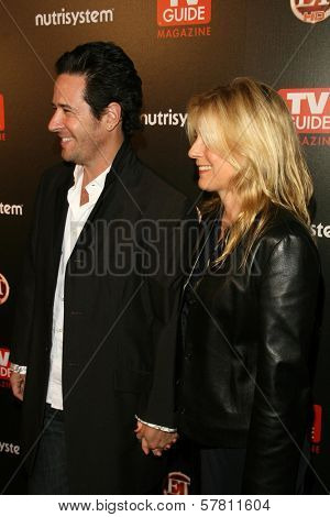 Rob Morrow and Debbon Ayer  at TV Guide Magazine's Sexiest Stars Party. Sunset Tower Hotel, Los Angeles, CA. 03-24-09