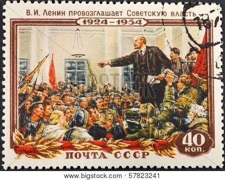 Communist Leader Lenin (ulyanov) On Meeting