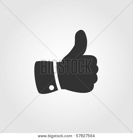 Thumb up icon, flat design