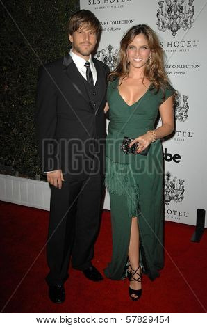 Andrew G and Noa Tishby   at the Grand Opening of SLS Hotel. SLS Hotel, Los Angeles, CA. 12-04-08