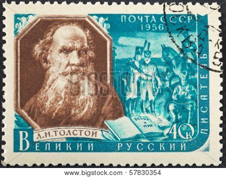 Russian Writer Lev Nikolayevich Tolstoy