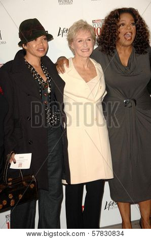 Tisha Campbell-Martin with Glenn Close and Oprah Winfrey   at The Hollywood Reporter's Annual Women In Entertainment Breakfast. Beverly Hills Hotel, Beverly Hills, CA. 12-05-08