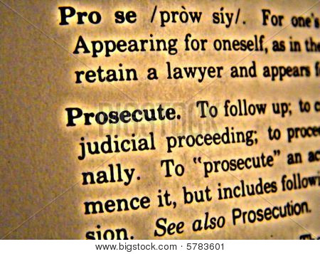 Dictionary Prosecute