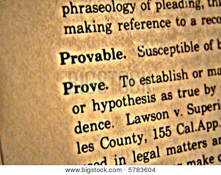 Dictionary Prove