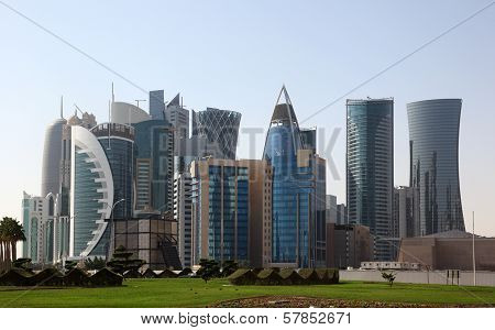 Skyscrapers Downtown In Doha