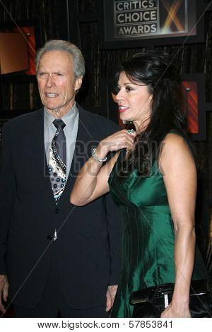 Clint Eastwood and Diane Eastwood  at VH1's 14th Annual Critic's Choice Awards. Santa Monica Civic Auditorium, Santa Monica, CA. 01-08-09