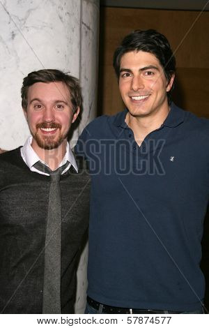 Sam Huntington and Brandon Routh at the Los Angeles Special Screening of 'Fanboys'. Clarity Screening Room, Beverly Hills, CA. 02-03-09