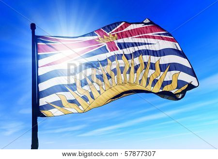 British Columbia (Canada) flag waving on the wind