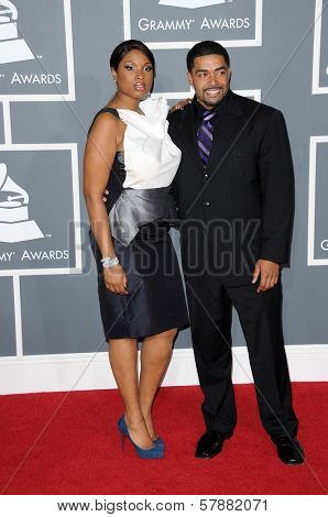Jennifer Hudson and David Otunga at the 51st Annual GRAMMY Awards. Staples Center, Los Angeles, CA. 02-08-09