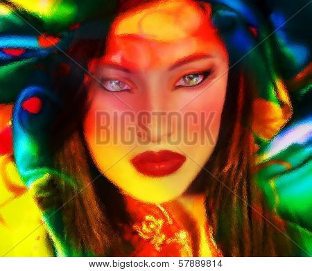 Abstract Asian Beauty