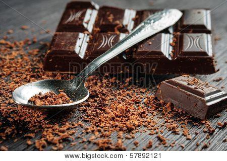 Closeup Of Dark Chocolate