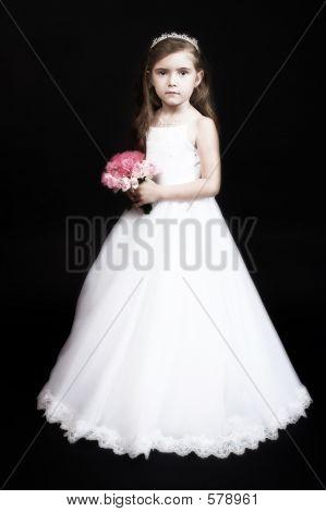 Flower Girl With Roses