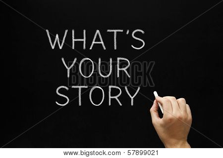 Whats Your Story Blackboard