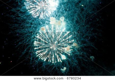 Opened Firework In Sky
