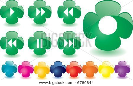 Green clover as music bar, vector illustration