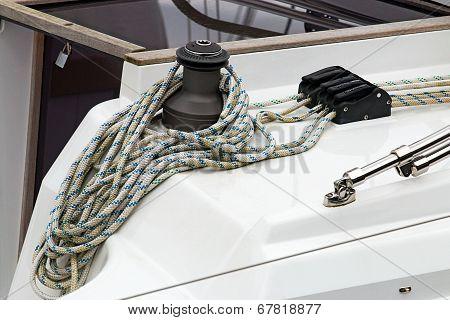 Yacht Detail Of Winding Gear
