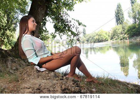Woman Near The River