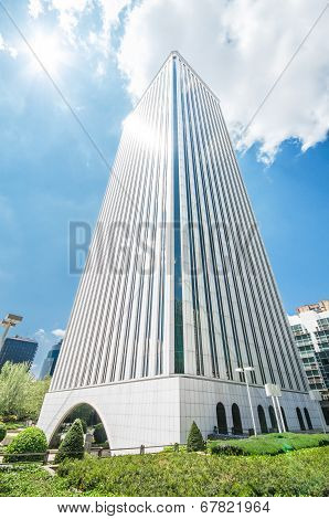 Picasso Tower at financial center in Madrid, Spain on 4 May 2013
