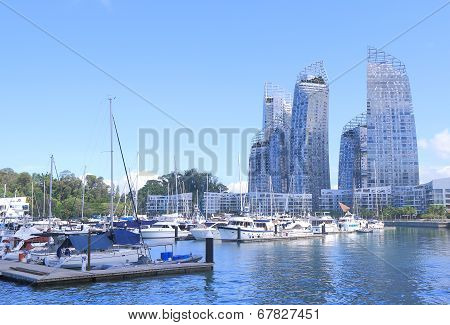 Contemporary architecture Marina at Keppel Bay  Singapore