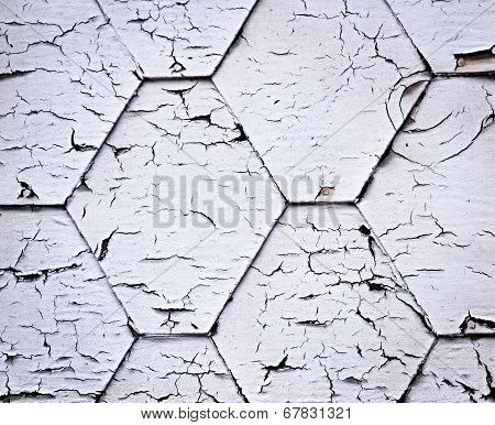 background or texture white crackled painted shingle poster