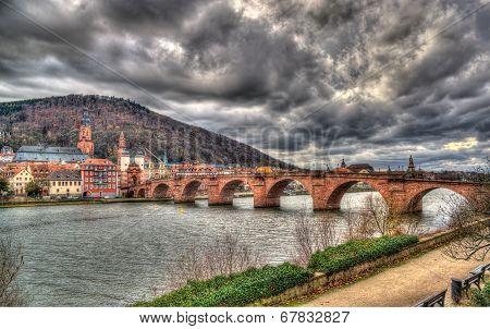 View Of Heidelberg With Alte Brucke - Baden-württemberg, Germany