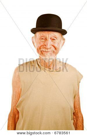 Crazy Man In Bowler Hat