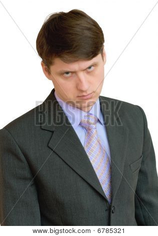 Businessman In A Shirt, Tie And Jacket