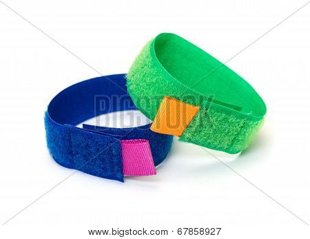 Rings From Colorful Velcro Strips