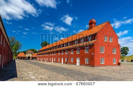 Barracks in Kastellet fortress Copenhagen - Denmark poster