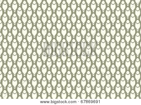 Claw of crab or pincers and circle and fire pattern on dark green background. Retro and classic seamless pattern style for design poster