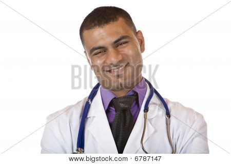 Portrait Of hansome happy smiling Self Confident Medical Doctor