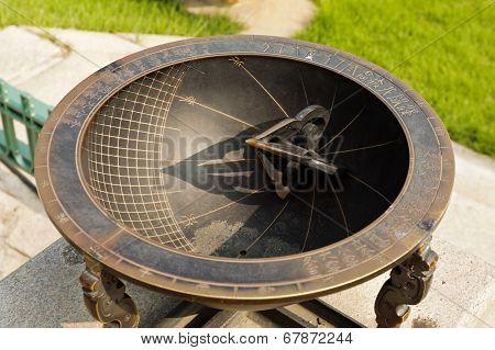 Old Korean Solar Clock Made Of Metal
