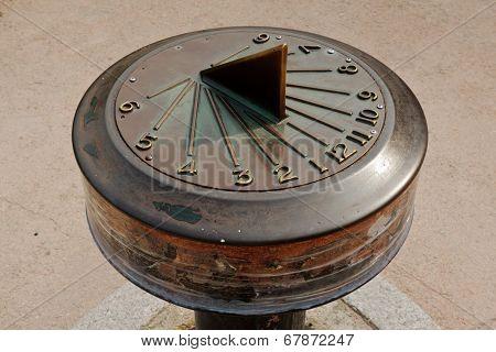 Solar Clock Showing Time Four O'clock