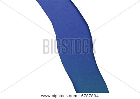 Paper with torn hole - strip