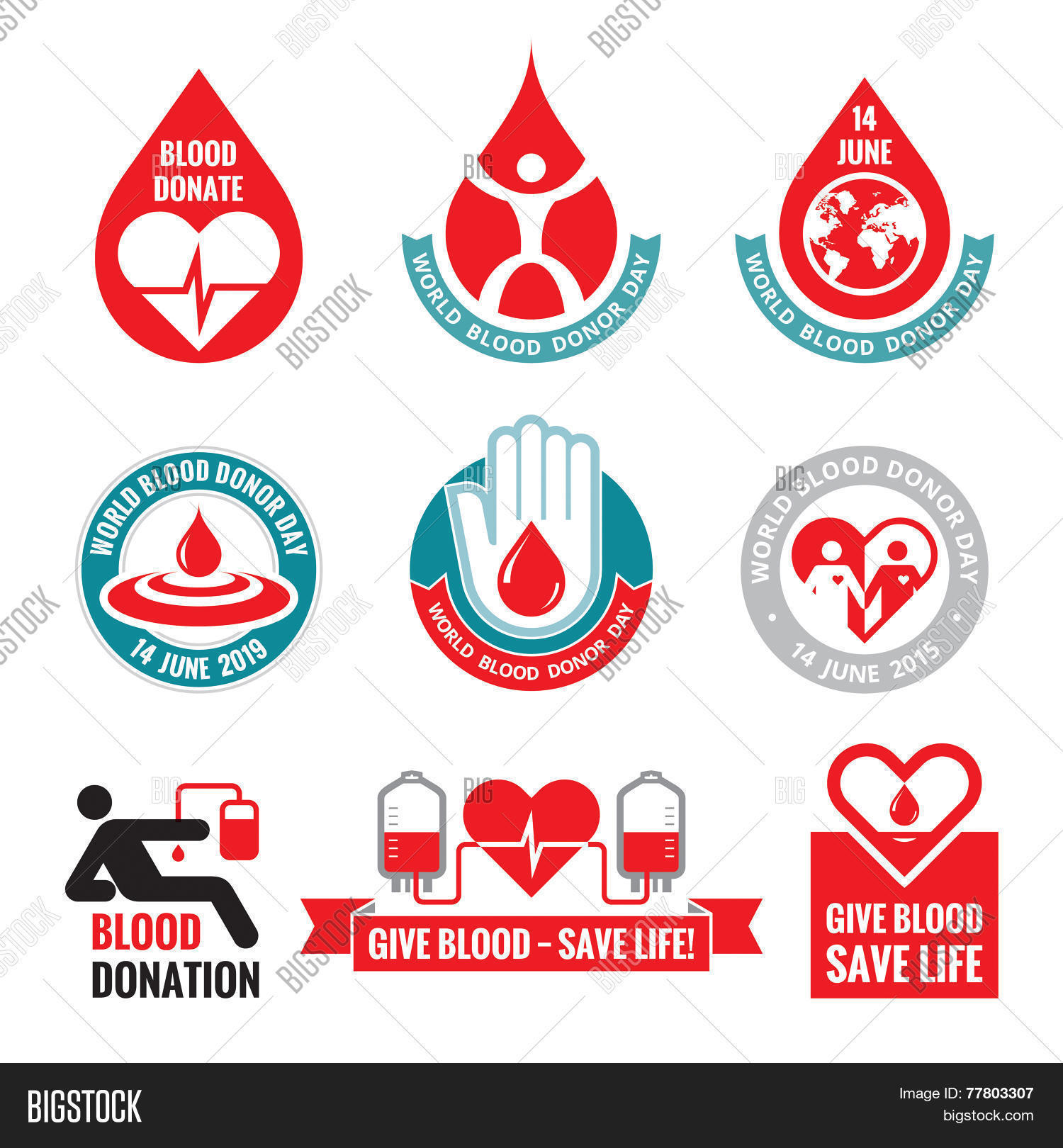 Blood donation vector logo vector photo bigstock blood donation vector logo badges collection world blood donor day 14 june buycottarizona
