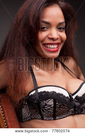 Afroamerican Model's Beautiful Smile