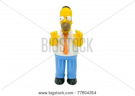Homer Simpson Figure Toy Character From The Simpsons Family