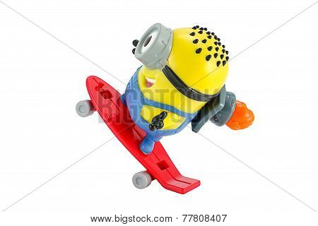 arl rocket Minion toy character from Despicable Me animation movie.