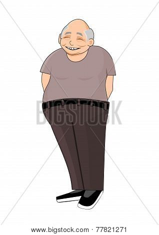 Smiling chinese pensioner