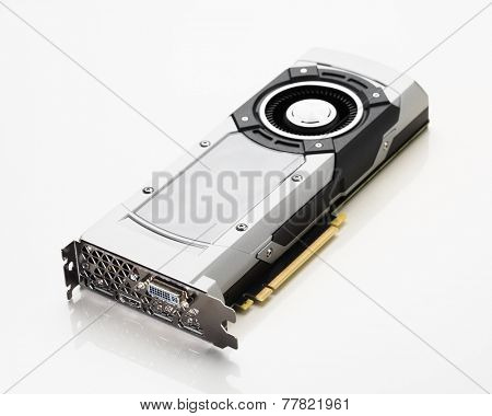 professional gaming graphic card, white background