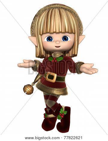Cute Happy Toon Christmas Elf