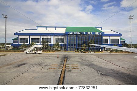 International airport Jardines Del Rey of Cayo Coco. Cuba. poster