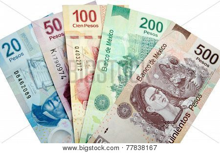 Mexican Pesos Isolated