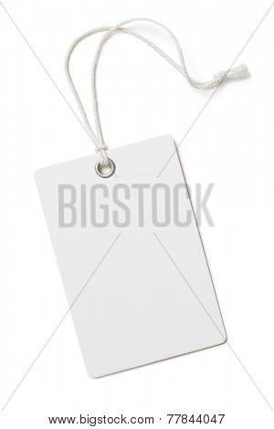 Blank paper price tag or label isolated poster