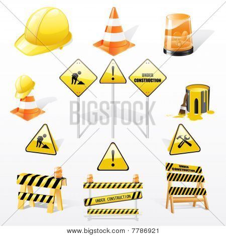 Under construction icons set