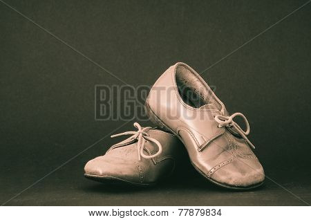 Old Brown Toddler Shoes
