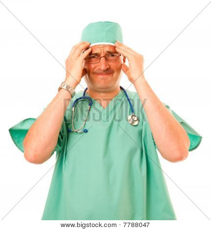 Surgeon Looking Stressed