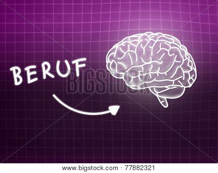 Beruf Brain Background Knowledge Science Blackboard Pink